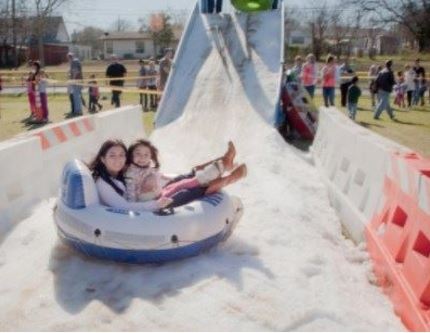 chill out on a real snow hill. Photo: City of Irving
