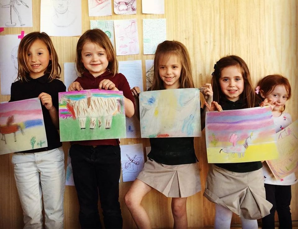 Be inspired at one of Oil and Cotton's art camps. Photo: Oil and Cotton