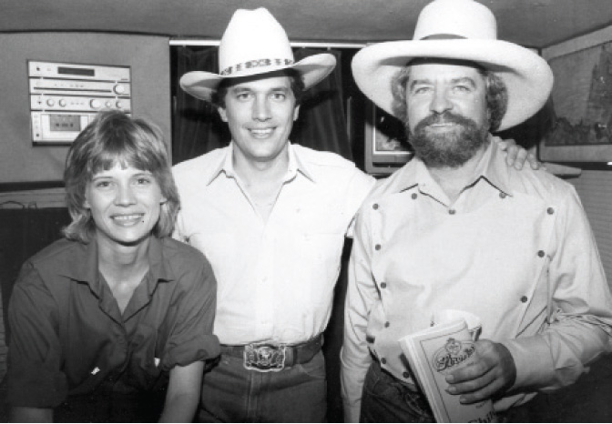 Writer Diana Hendricks (then Finlay) with George Strait and Kent Finlay in September 1981. (Courtesy of Cheatham Street Foundation Archives)