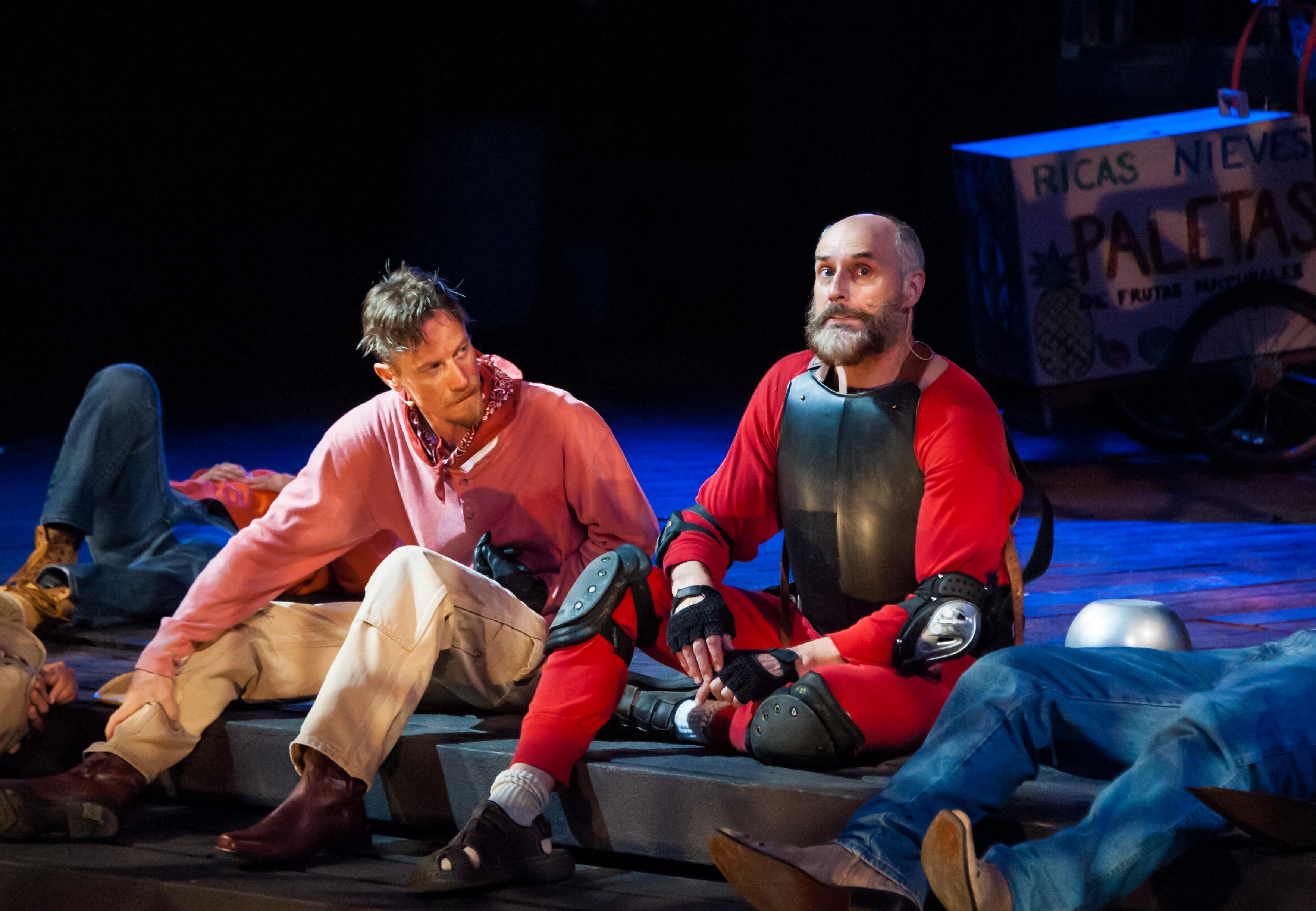 David Gotham as Cervantes and Jim Jorgensen as Don Quixote