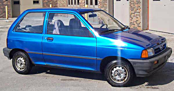 A Ford Festiva.