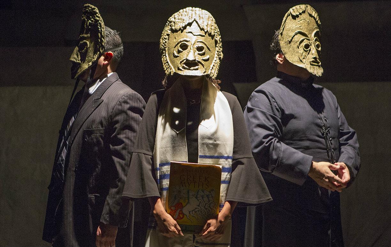 The-Minotaur chorus_L-R_David-Lugo_Renee-Jones_Randy-Pearlman_Photo-by-Jeffrey-Schmidt
