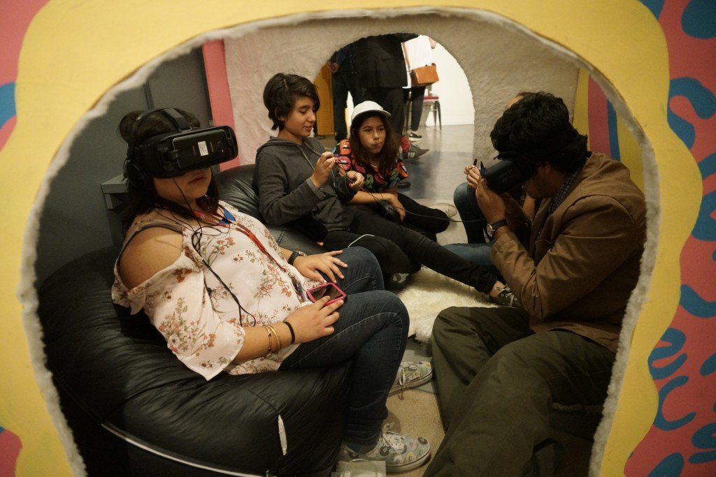 "Virtual reality at ""Stories Seldom Told."" Photo: Say Si"