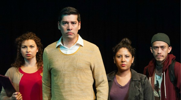 Maya Malan-Gonzalez, Ivan Jasso, Liz Magallanes and, David Zaldívar in Cara Mia Theatre's 'Deferred Action.' Photo: Linda Blase