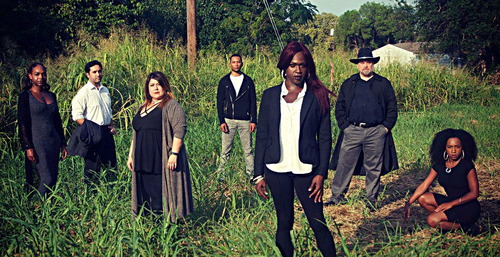 'In the Tall Grass' cast: Mieko Hicks, Michael Salimitari, Sheila D. Rose, LaMar Roheem Staton, Shannon Walker, Neil Rogers, Kyndra Mack. Photo: BR Photography
