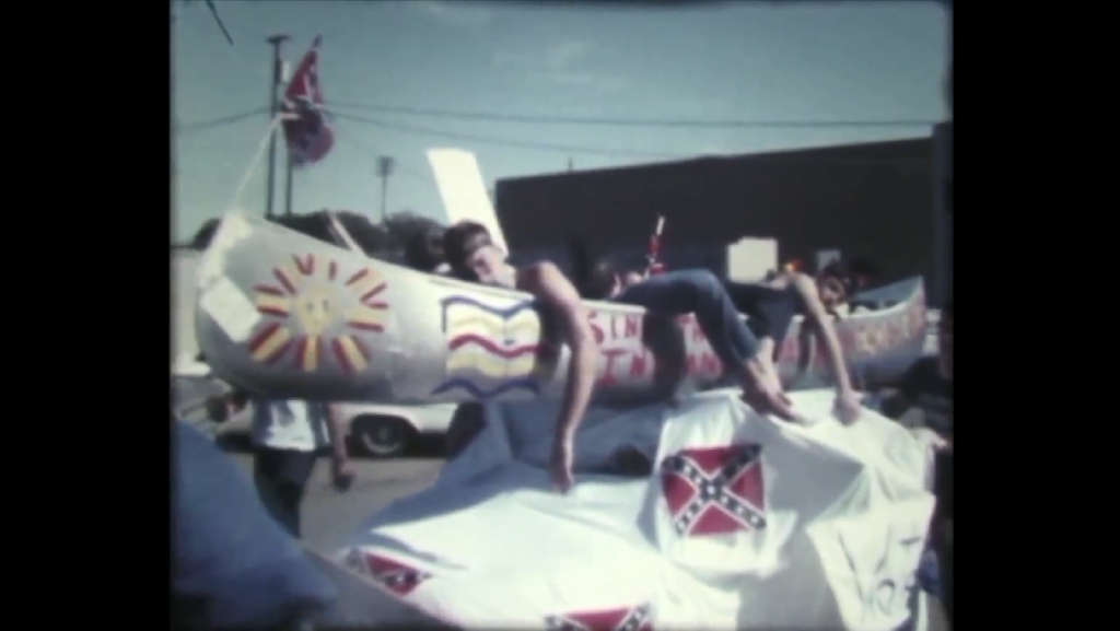 "A still from Christian Vasquez's ""Dallas Circle,"" which uses archival footage from the Jones Collection at SMU."