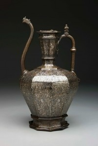 "The ""Homberg Ewer"", Syria, 1242, brass inlaid with silver Photo: Dallas Museum of Art"