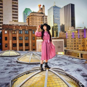 Reyes shot on top of a Dallas rooftop. Photo: Exploredinary