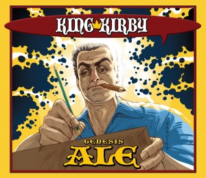 "Artist Paul Harding's take on Jack ""The King"" Kirby, which is featured on the special-edition beer brewed for a Kirby Day celebration at Schmaltz Brewery in Clifton Park, N.Y. Photo: NPR"