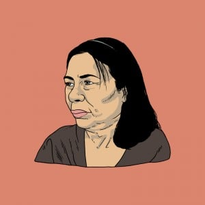 An illustration of Arturo Torres' mother. She passed in 2016.