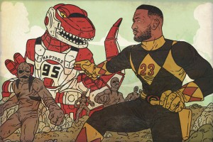 Torres' drawing of what it would look like if Lebron James were a Power Ranger.