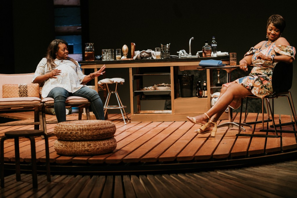 Stormi Demerson and M. Denise Lee in 'BREAD' at WaterTower Theatre. Photo: Evan Michael Woods