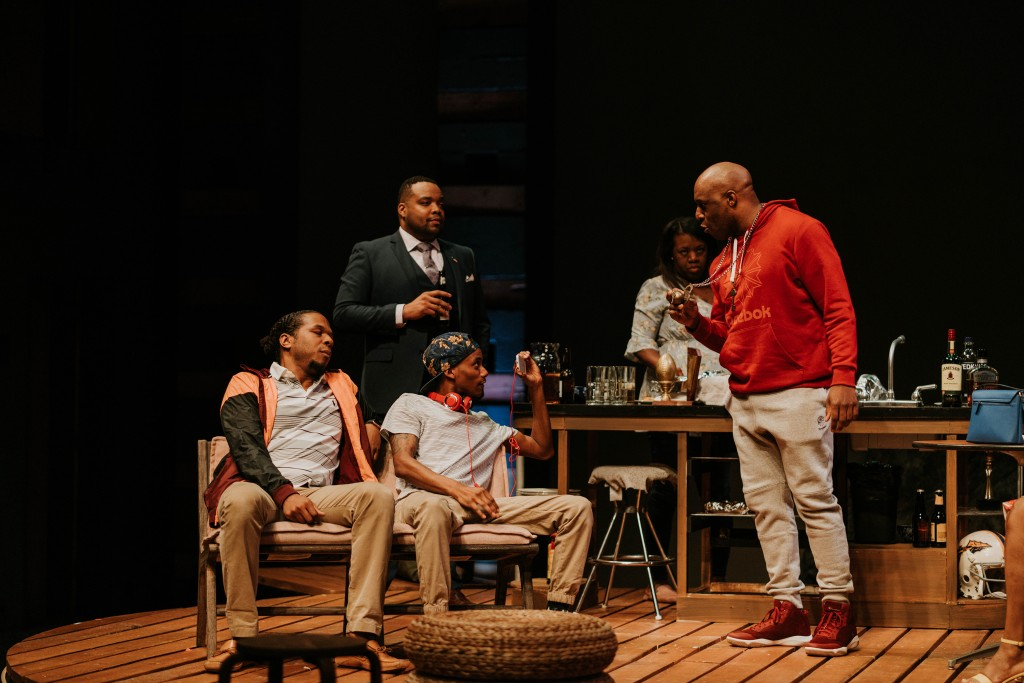 Cast of 'Bread' on stage at WaterTower Theater. Photo: Evan Michael Woods