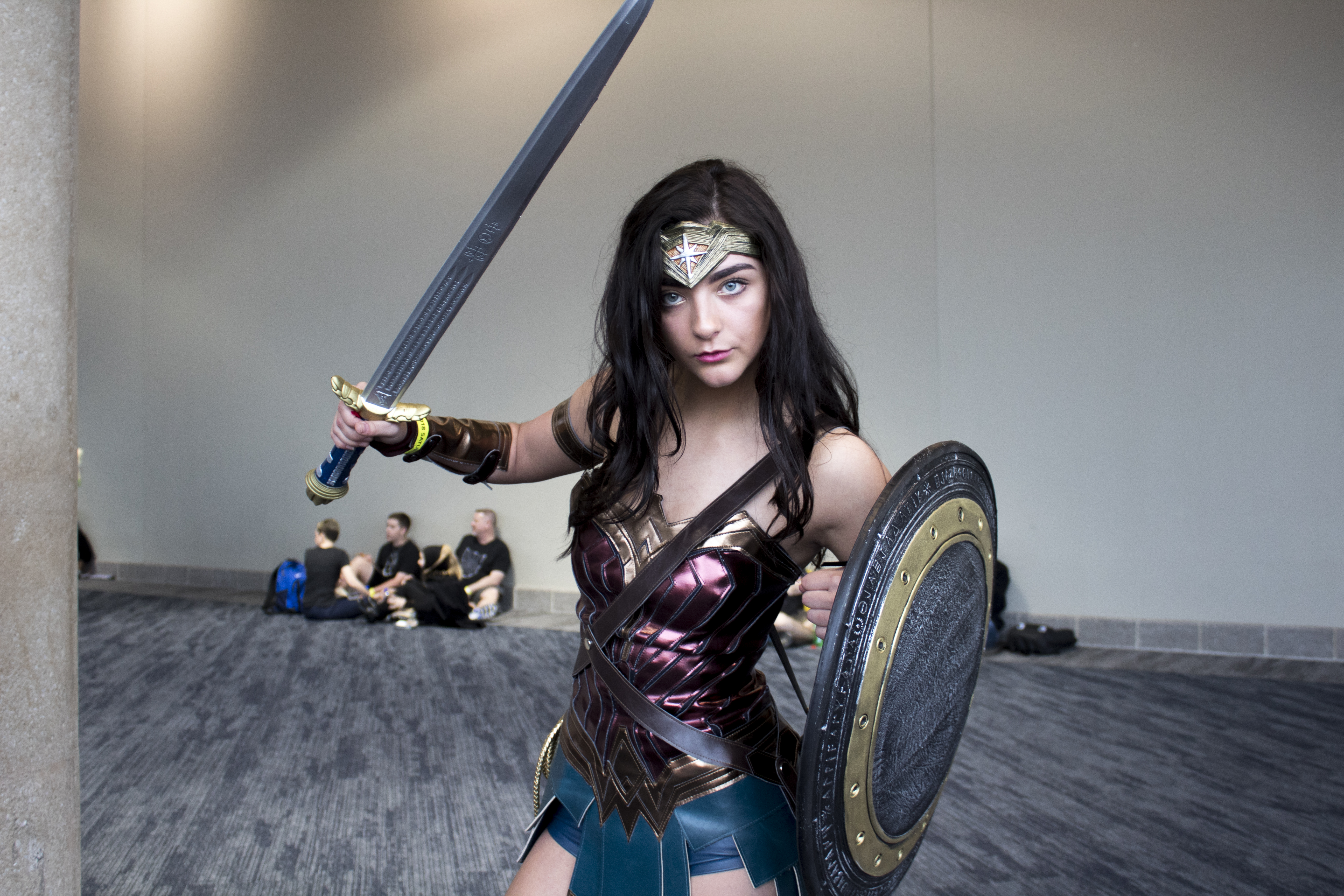 "Haylie Jess is a senior in high school. Jess has dress as Wonder Woman for other conventions,""If the world was a bit more like comic-con, I think we'd all be a little happier."" Photo: Zoee Acosta"