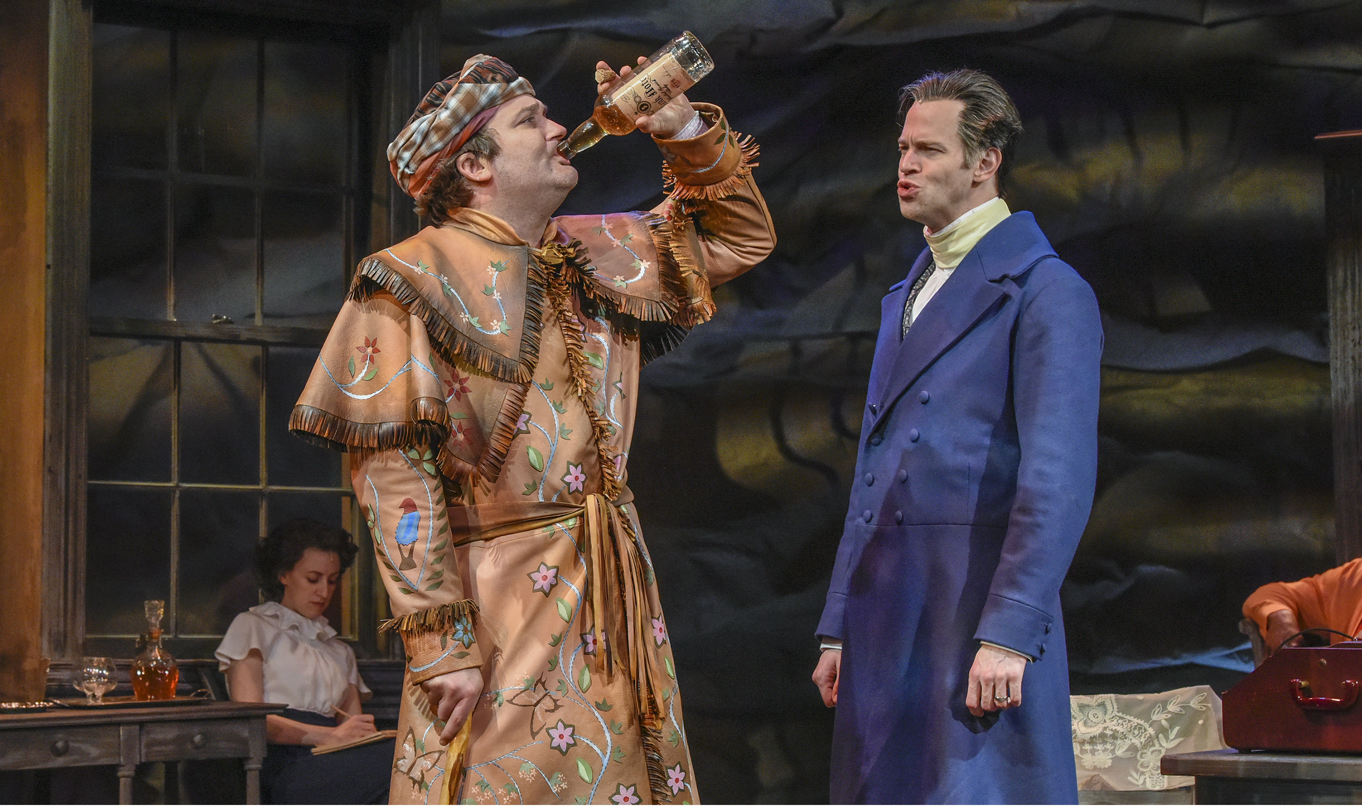 CUT Steven Michael Walters and Alex Organ in The Trials of Sam Houston - Photo by Karen Almond