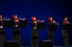 The group's lead violinist, Karen Gerardo, is in the first violinist on the right. Photo: Sylvia Elzafon