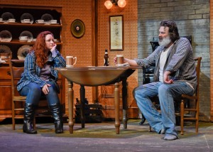 "Actors Jeremy Schwartz and Jessica Cavanagh in WaterTower Theater's ""Outside Mullingar."" Photo: WaterTower Theater"