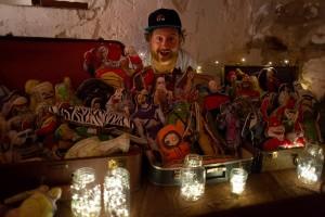Graphic designer and zine adviser Mathew Sallack sells his wares at the SpiderCon. Photo: Leah Jones
