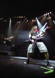 Darrell Dimebag Abbott guitarist for the Heavy Metal band Pantera performs live in concert February 13, 2001 at the Coliseum in Denver, CO. Photo: TDC Photography / Shutterstock.com