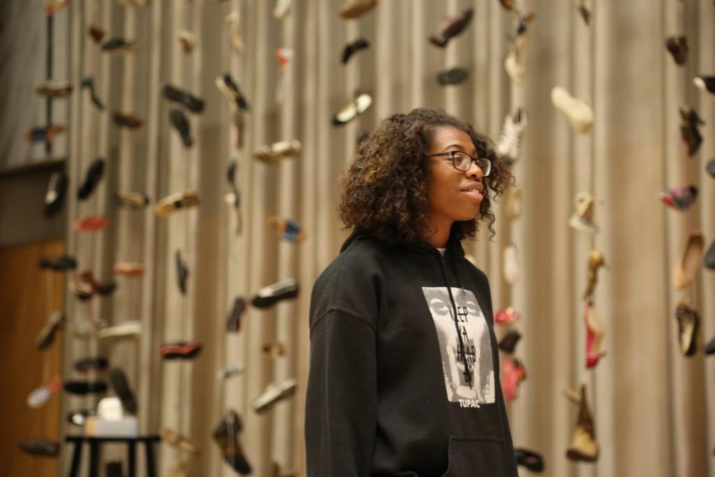 Cast member Trinity Gordon rehearses at Hamon Hall in Dallas Arts District. Photo: Hady Mawajdeh
