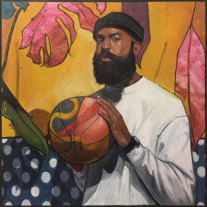 """We Got Next"" by Riley Holloway Exhibited at The Neighborhood - ""The Portrait Series"""