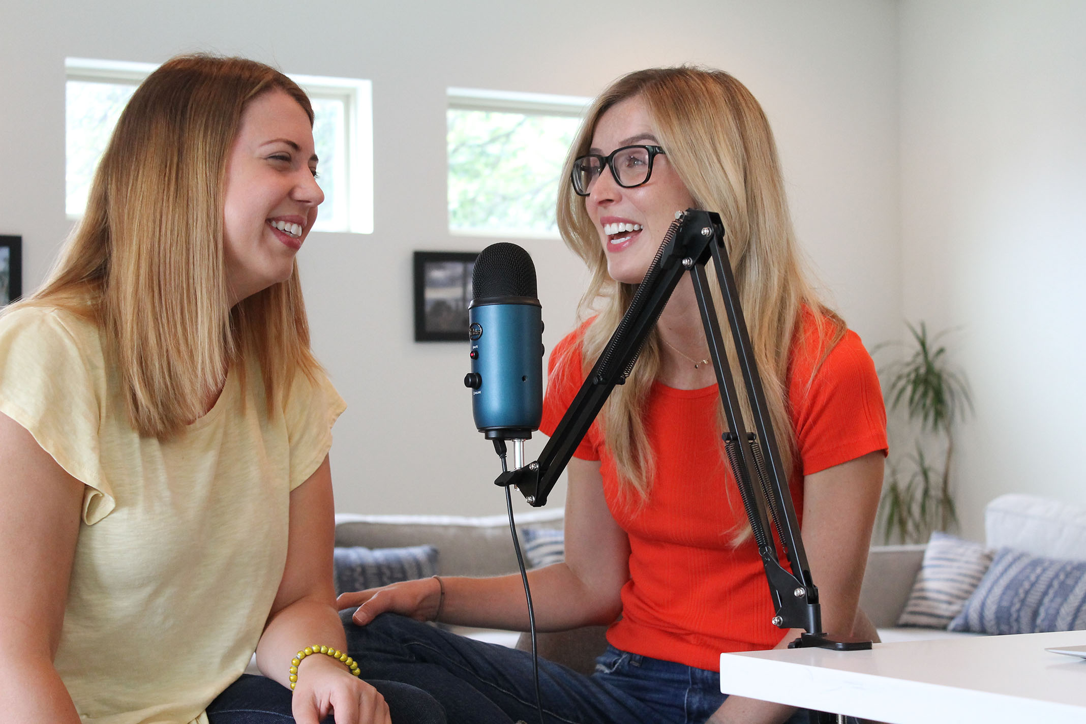 "Dallas-area therapists Kristen Diou (left) and Anna Zapata (right) discuss how mental health is represented in the movie ""Perks of Being a Wallflower"" for their podcast, ""Pop Culture Therapists."""