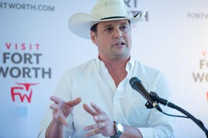Chris Vivion speaking at a Visit Fort Worth event. Photo: Visit Fort Worth