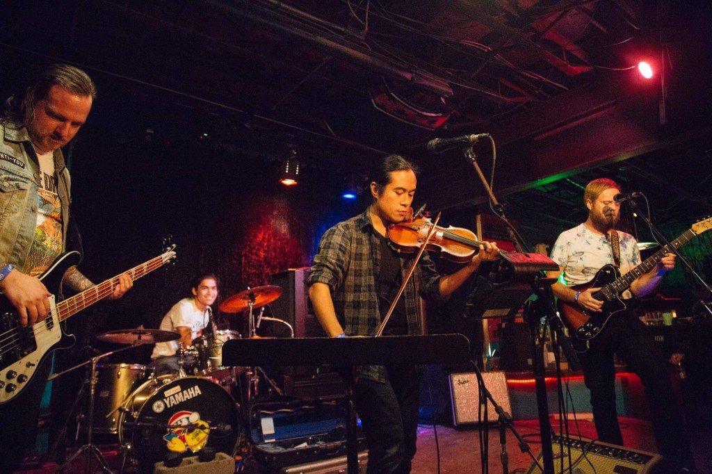 Musicians coming together to form a band for a previous year's Rock Lottery showcase. Photo: Andi Harman
