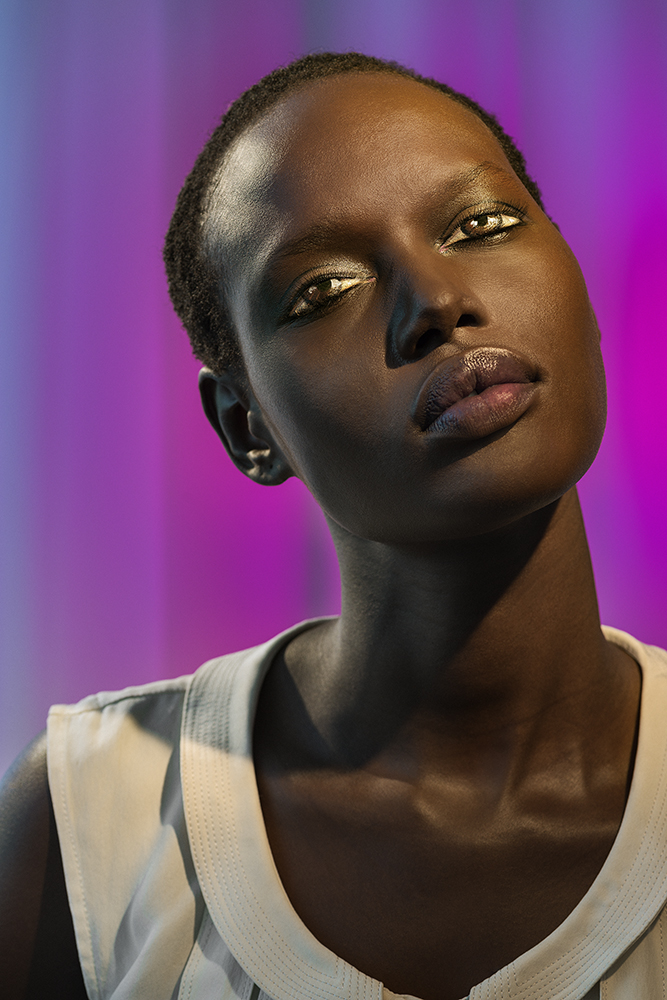 """""""How We See/Ajack (Violet)"""" by Laurie Simmons."""