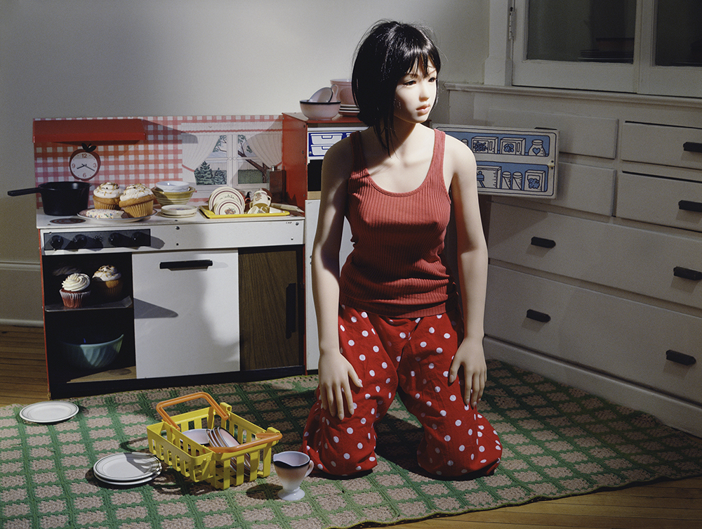 """""""The Love Doll/Day 23 (Kitchen)"""" by Laurie Simmons."""