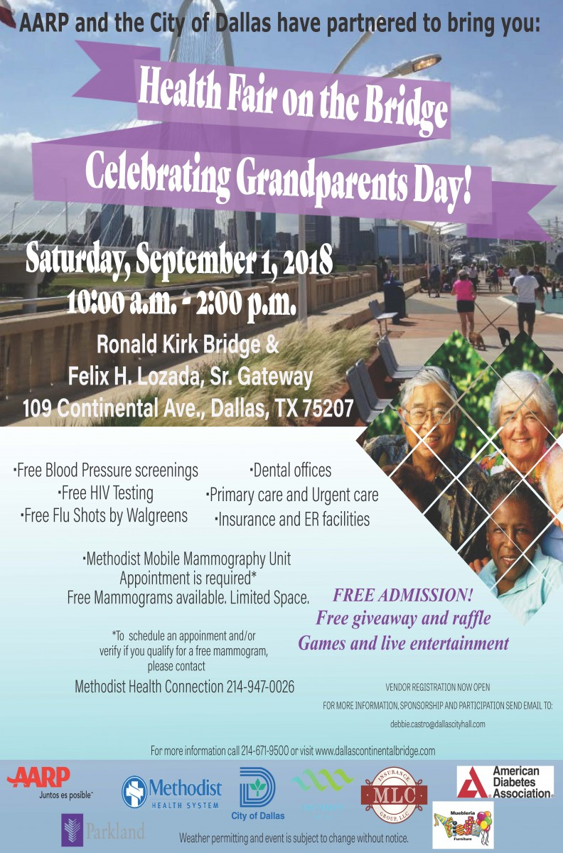 Health Fair on the Bridge Celebrating Grandparents Day