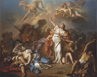 Apollo and Diana Attacking the Children of Niobe, by Jacques-Louis David