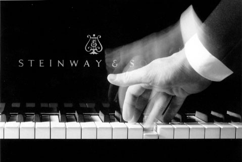 Fingers on a Steinway