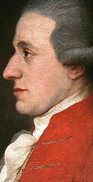 Wolfgang Amadeus Mozart 1783 portrait