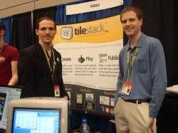 The creators of TileStack, Joshua Gertzen (left) and Ted C. Howard.