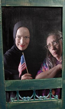 Diana Sheehan and Pam Daugherty star in Grey Gardens.