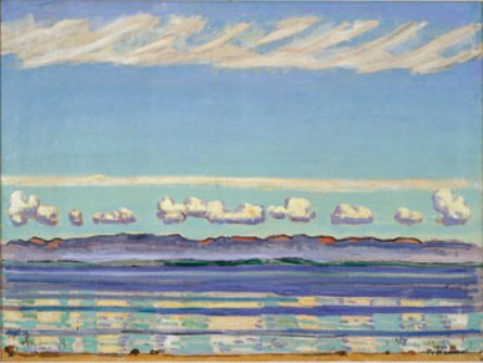 On Lake Geneva: Landscape with Rhythmic Shapes, 1908, by Ferdinand Hodler. The Barrett Collection, Dallas