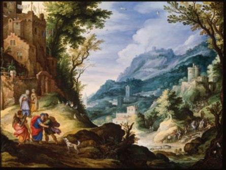 """Landscape with Tobias's Return,"" 1601, Paul Bril. Robert Edsel Collection"