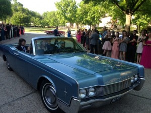 Vintage convertibles delivered nominees to the Music Hall at Fair Park. Photo: Courtney Collins