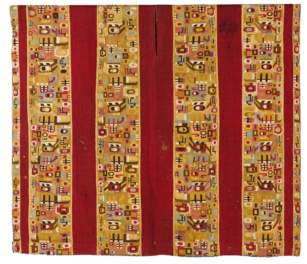 Tapestry-Woven Tunic with Sacrificer, camelid fiber and cotton, The Cleveland Museum of Art.