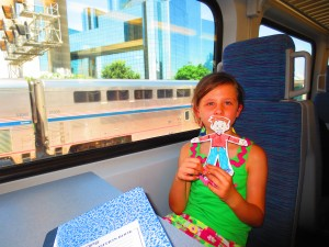 Rose and Flat Stanley head to Fort Worth (Photo Therese Powell)