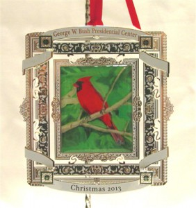 Former President George W. Bush painted this ornament, which is available for sale. (Credit: George W. Bush Presidential Library and Museum)