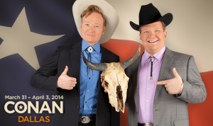 Are you ready for Conan O'Brien? The talk show host, and his sidekick, Andy Richter, will tape shows in Dallas in late March and early April. (TBS/Conan O'Brien)