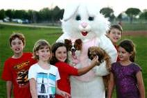 Take your pooch for a portrait with the Easter Bunny. (photo: City of Sachse)