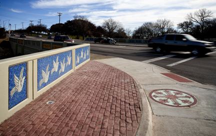 A sample of Leticia Huerta's work. The bridge at 28th St. and Decatur Ave. in Fort.   (Photo Ralph Lauer)
