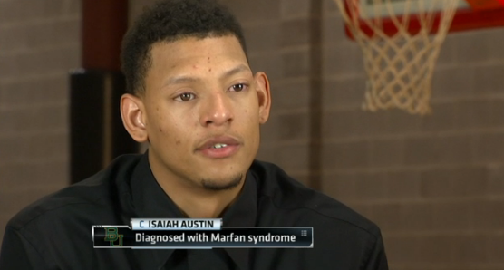 The NBA made Isaiah Austin a ceremonial draft pick Thursday. He's the Baylor basketball star from Arlington who learned just a few days ago that his career is over due to a genetic disorder. Credit: ESPN
