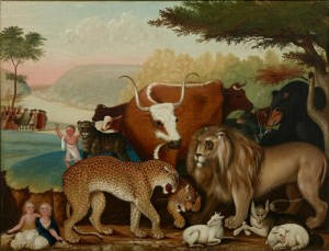 Edward Hicks' The Peaceable Kingdom is at the Dallas Museum of Art.