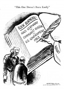 "Herblock, ""This One Doesn't Burn Easily,"" Washington Post, June 18, 1953.–US Holocaust Memorial Museum/Library of Congress"