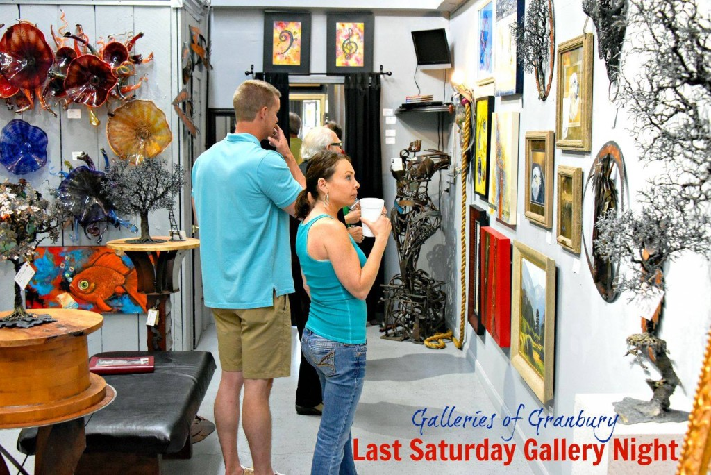 Take in all kinds of art at Gallery Night in Granbury. (Photo: Galleries of Granbury)