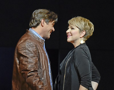 Sid Taylor (Nathan Gunn) reconnects with high school sweethear, Arden Scott (Joyce DiDonato). Photo: Karen Almond, Dallas Opera